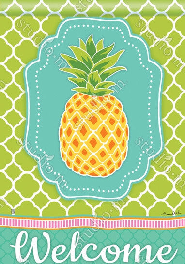Preppy Pineapple 28x40 - Islander Flags of Kitty Hawk, Inc.