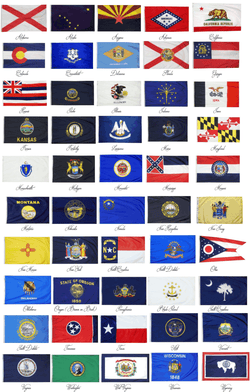 State Flags 3x5 ft and 4x6 ft - Islander Flags of Kitty Hawk, Inc.