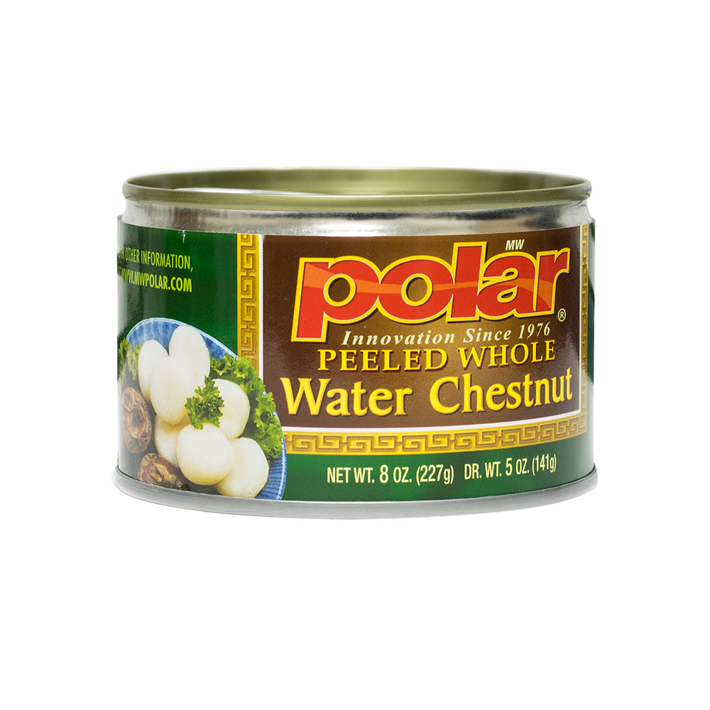 Peeled Whole Water Chestnuts 8 oz (Pack of 6 or 12) - MWPolar
