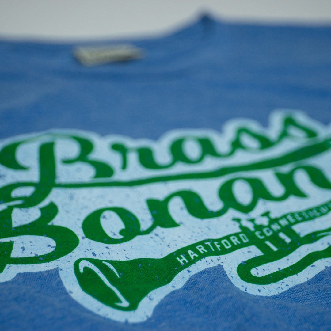 Brass Bonanza T-Shirt Detail Royal Blue Men's