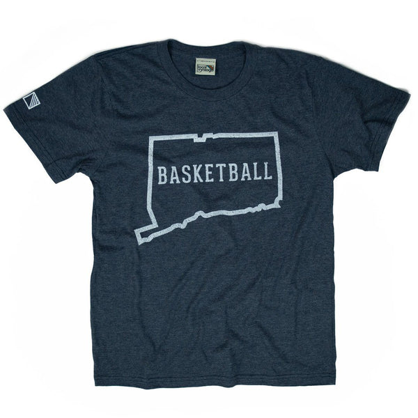 Connecticut Basketball T-Shirt Front Dark Blue Men's