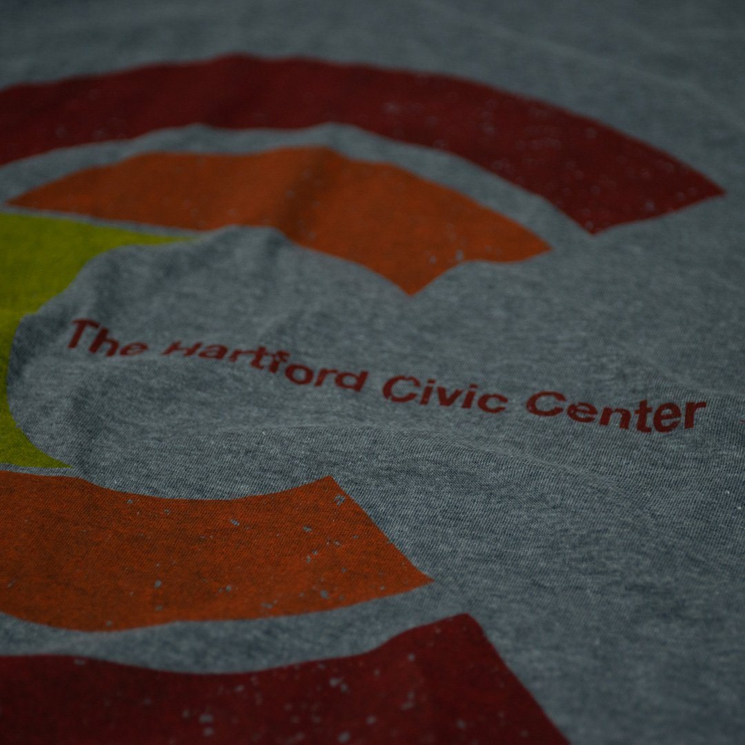 Hartford Civic Center T-Shirt Detail Grey With Red Men's