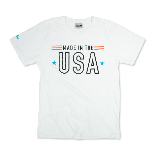 Made in the USA T-Shirt Front White Men's