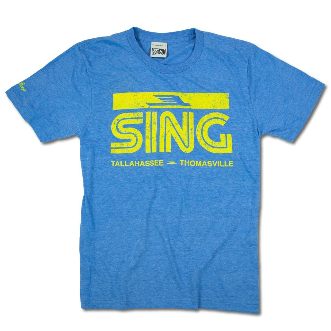 Sing Stores T-Shirt Front Royal Blue Men's