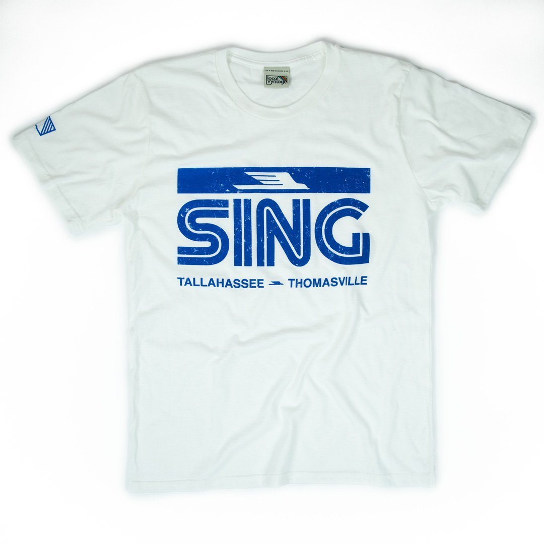 Sing Stores T-Shirt Front White Men's