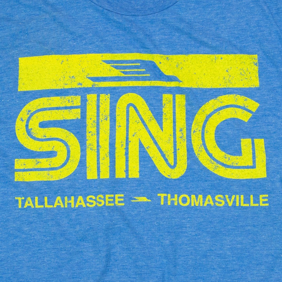 Sing Stores T-Shirt Graphic Royal Blue Men's