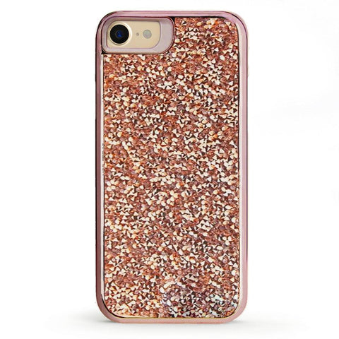 Shiny Rose Gold Battery-Powered Charging Case