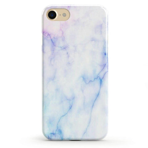 White Marble Battery-Powered Charging Case