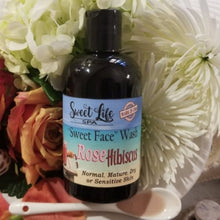"Organic Rose Hibiscus ""Sweet Face"" Wash 