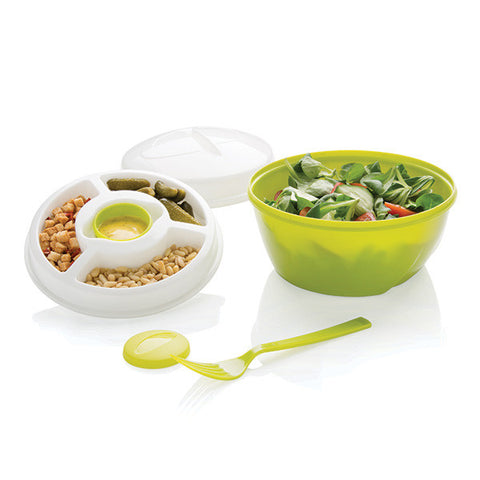 salad 2 go to go bowl separate compartment nuts seeds dressing comes with lid fork for travel