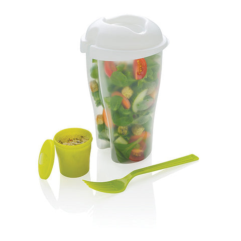 salad 2 go to go cup dressing compartment lid and spoon travel