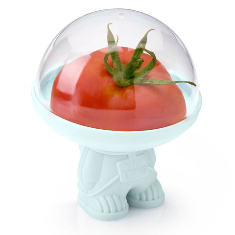 astro astronaut space man veggie vegetable saver half cut helmet