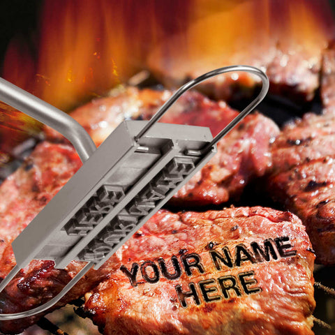 burger steak brander brand write your name message bbq