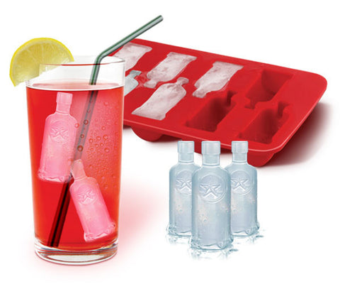 vodka bottle ice cubes tray mini