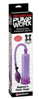 Bomba de vacio para pene - Pump Worx Beginners Power- Lila - Pipedream