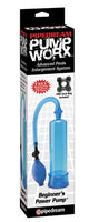 Bomba de vacio para pene - Pump Worx Beginners Power - Azul  - Pipedream