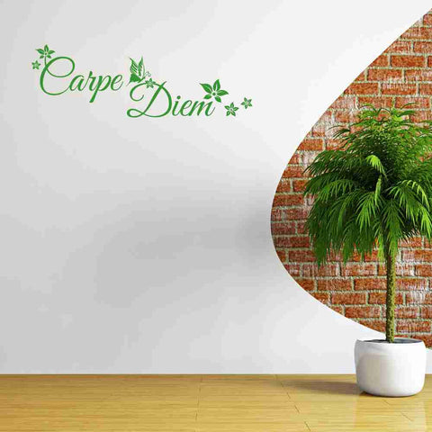 Carpe Diem Floral Wall Decal-Wall Decals-Style and Apply