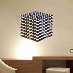 Metal Beads Cube Wall Stickers