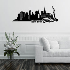 New York Skyline Decal-Wall Decals-Style and Apply