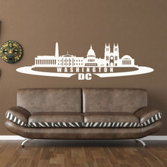 Washington D.C. City Skyline Wall Decal-Wall Decals-Style and Apply