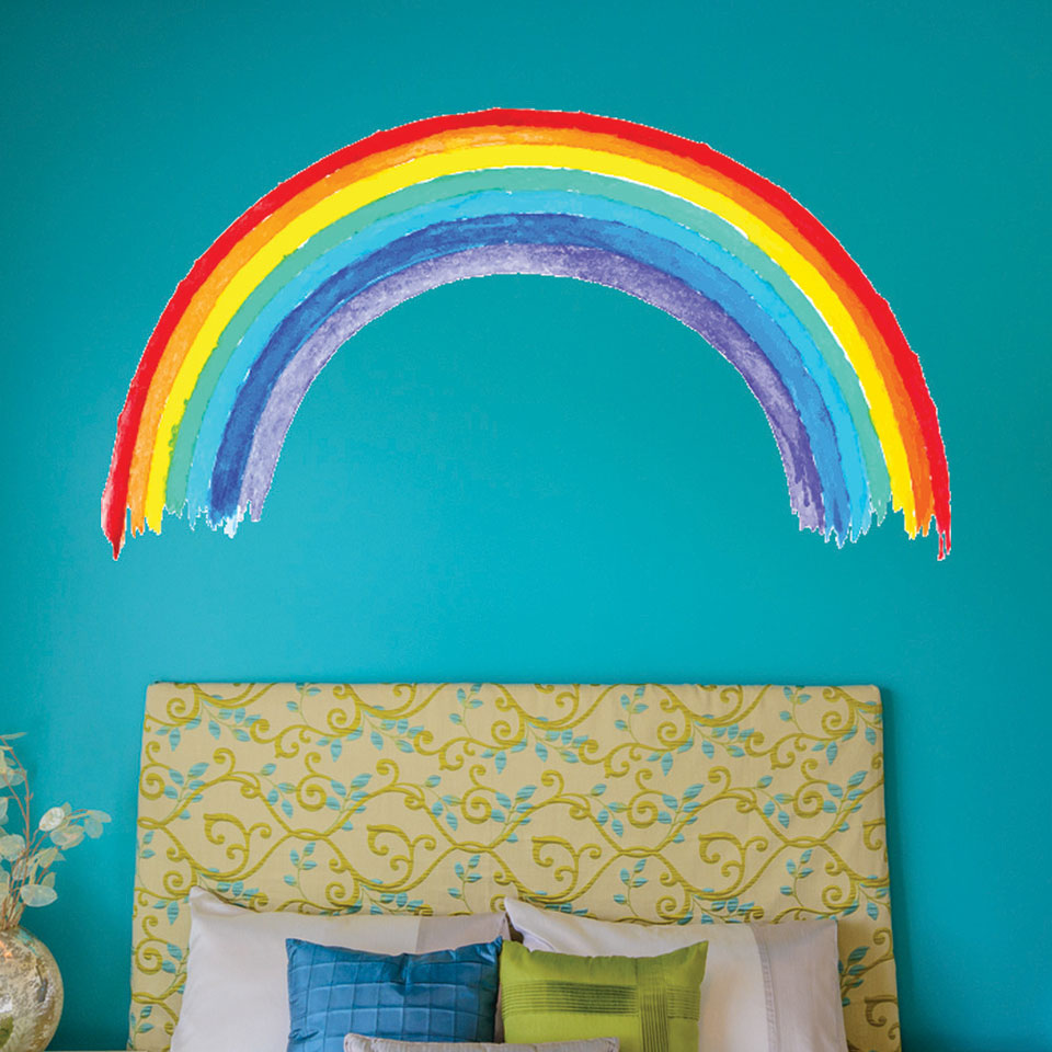 Watercolor Rainbow Wall Decal