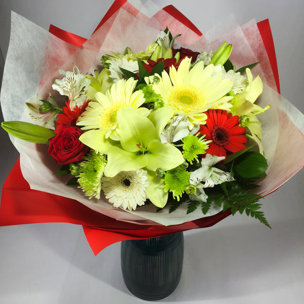 Devotion bouquet created with love in Porirua florist studio