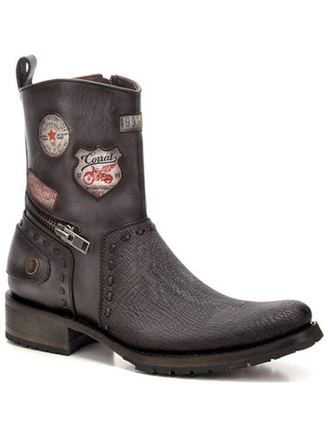 Corral Men's Patched Exotic Shark Short Boot - C3316