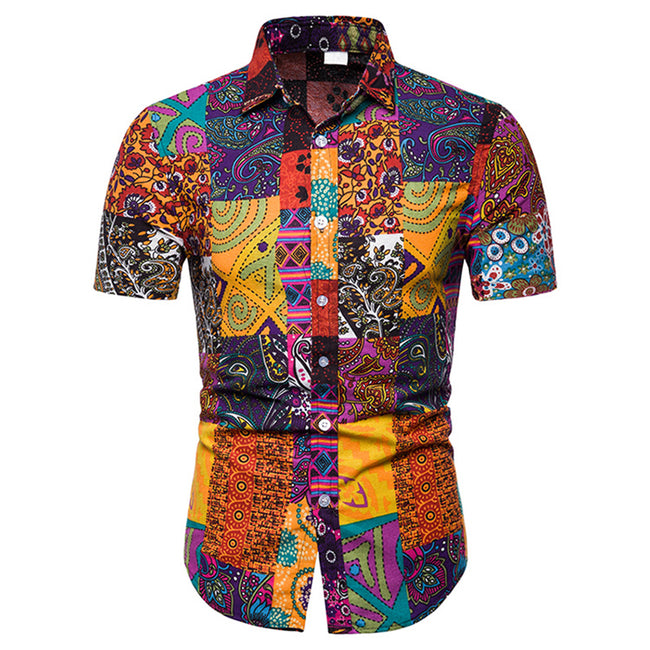 Slim Fit Floral Print Shirt 5 Colors