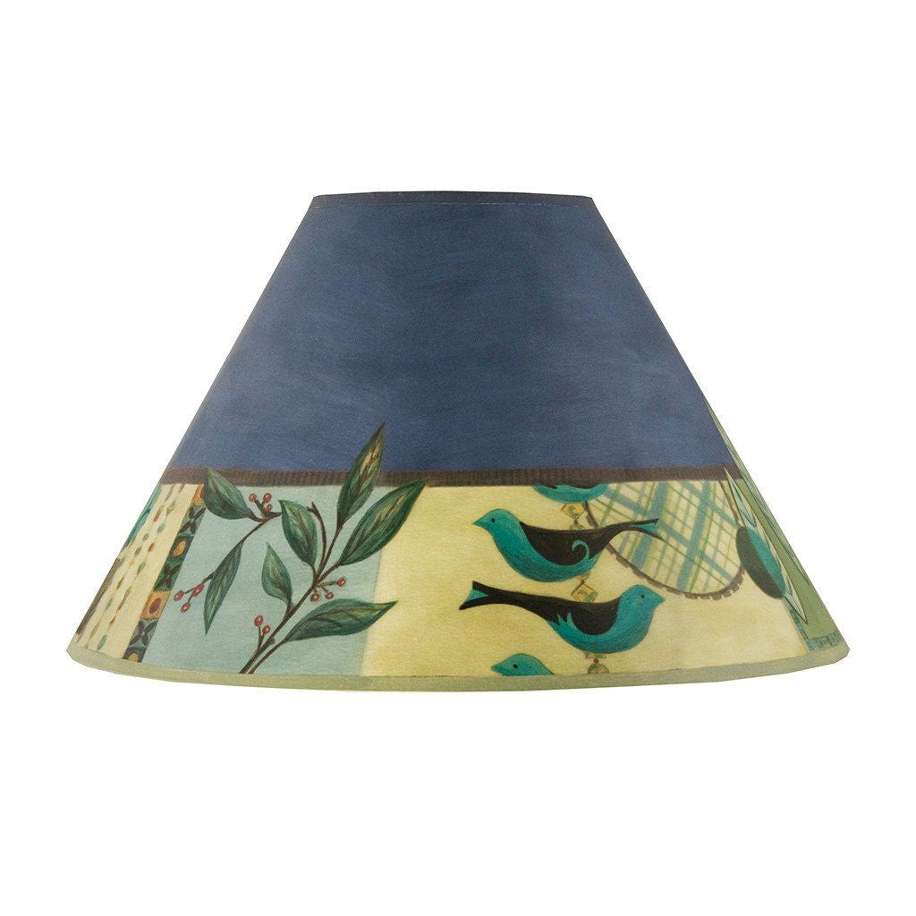 New Capri in Periwinkle Medium Conical Lamp Shade