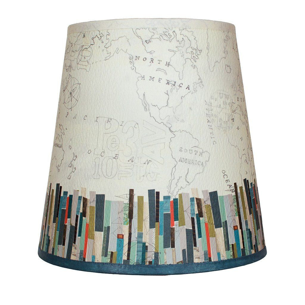 Papers Edge Accent Drum Lamp Shade