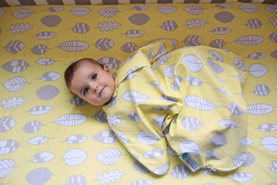 Sleepy Hugs, sleeping baby, swaddle transition, baby loves sleep, startle reflex, sleep sack, baby wearable blanket, baby blanket, swaddle sack, sleepsuit, organic