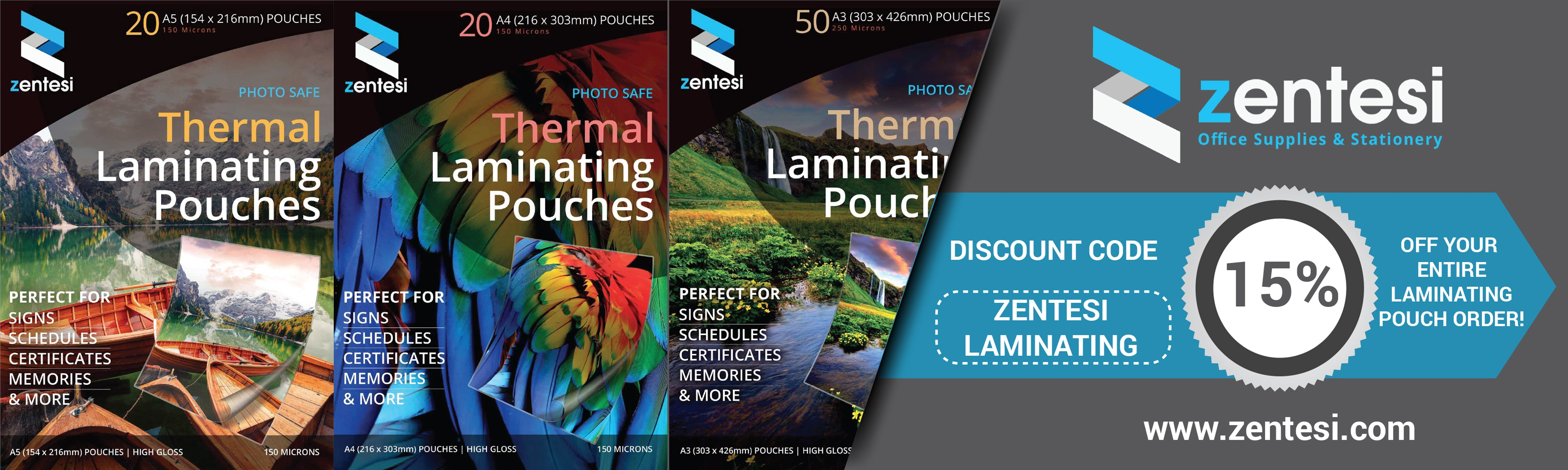 Zentesi Laminating Pouches