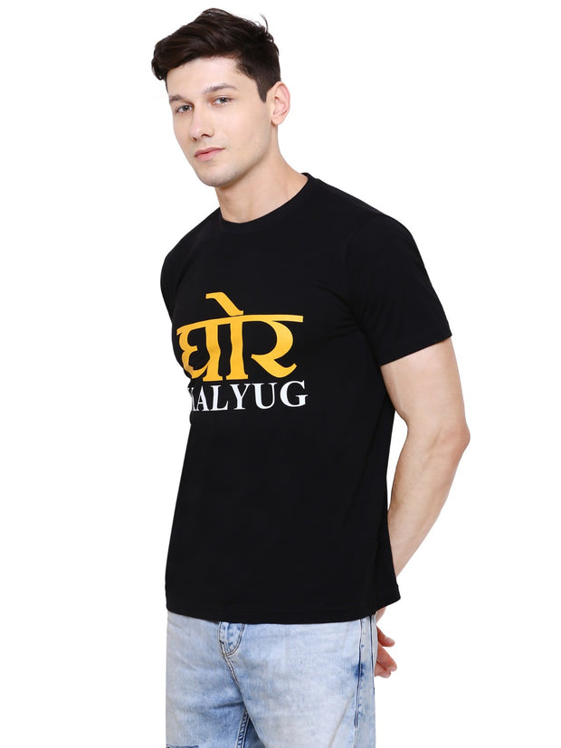 Black Ghor Kalyug Organic Cotton T-shirt