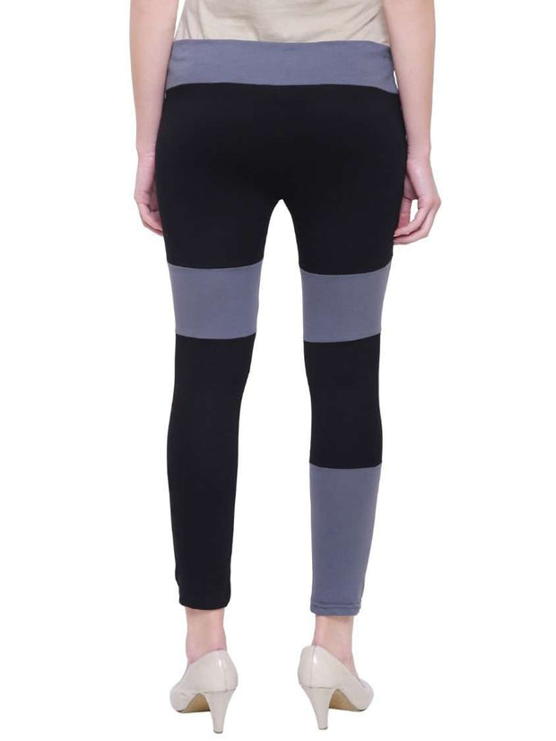"Grey & Black ""Color Pop"" Yoga Pants"