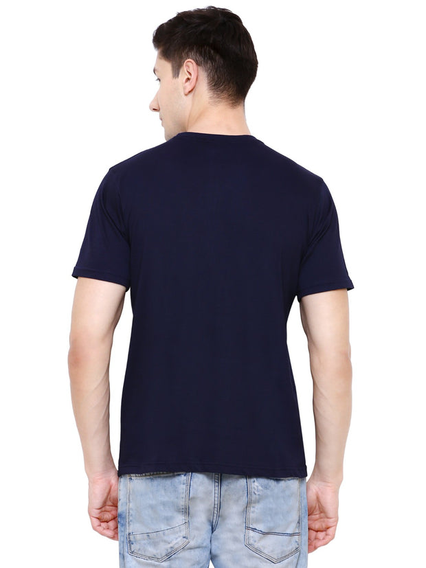 Navy Blue Life Set Hai Organic Cotton T-shirt