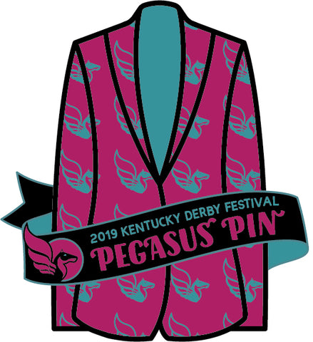 2019 Official Kentucky Derby Festival Plastic Pin