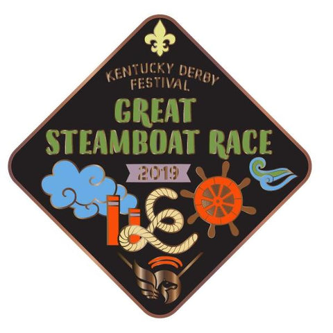 2019 Great Steamboat Race Metal Event Pin