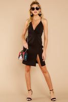 V-neck Sheath Plunging Neck Open-Back Darts Hidden Back Zipper Gathered Slit Sheath Dress/Evening Dress