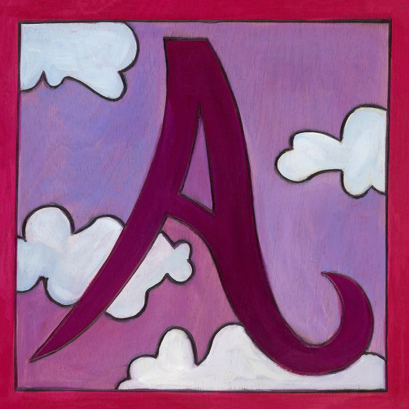 "Sincerely, Sticks printed letter ""A"" plaque, option 1"