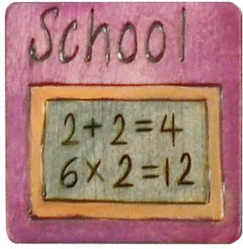 "Large Perpetual Calendar Magnet –  ""School"" day perpetual calendar magnet with math equations"
