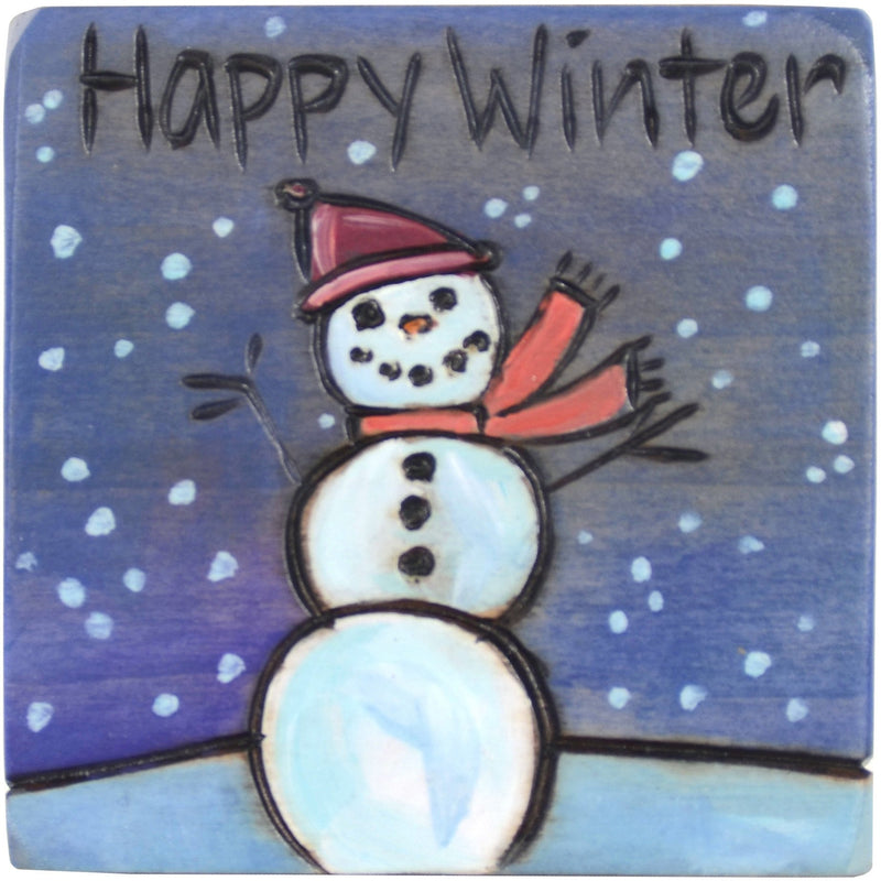Large Perpetual Calendar Magnet –  Mark the solstice on your calendar with a snowman
