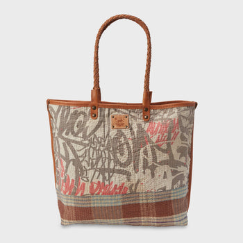 product: Will Leather Goods Reversible Quilted Tote Assorted