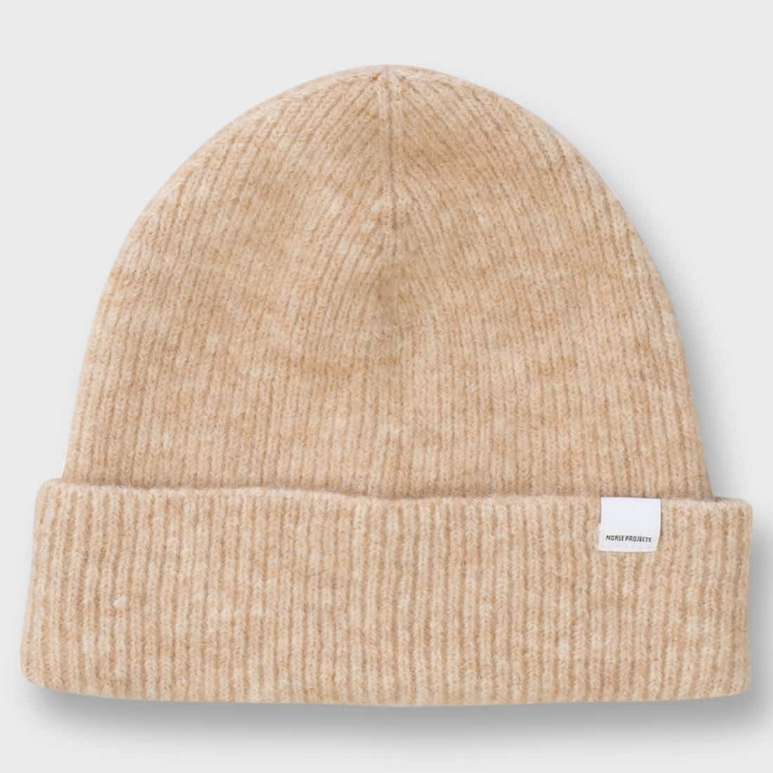 Norse Projects Martha Brushed Rib Beanie Camel