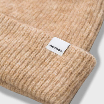 product: Norse Projects Martha Brushed Rib Beanie Camel