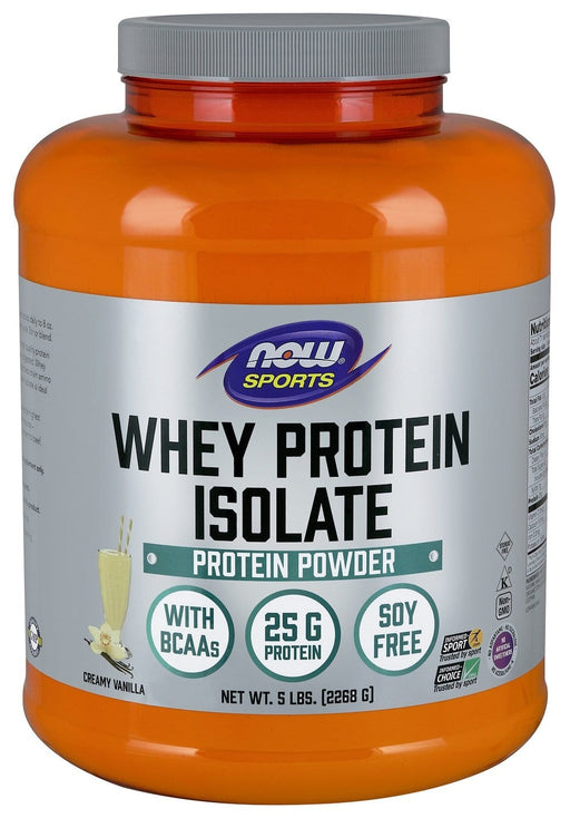 NOW Whey Protein Isolate Natural Vanilla 5 lbs