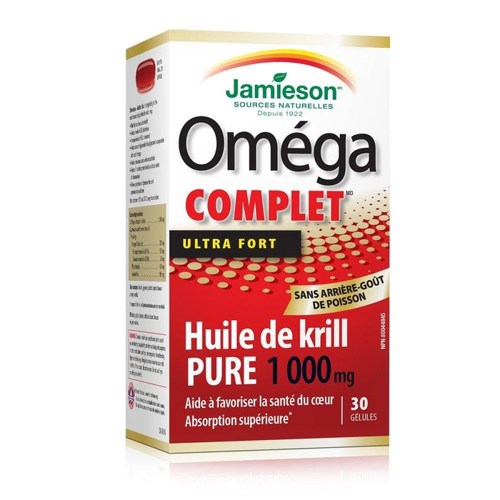 Jamieson Omega Complete Ultra Strength Pure Krill Oil 1000 mg 30 Softgels