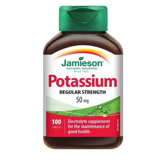 Jamieson Potassium 50 mg 100 Tablets