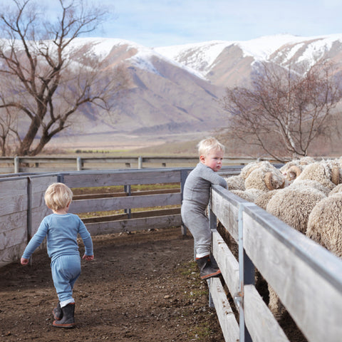 Kids in merino enjoying the outdoors