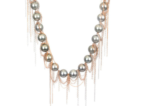 Samira 13 Tahitian Fringe Necklace