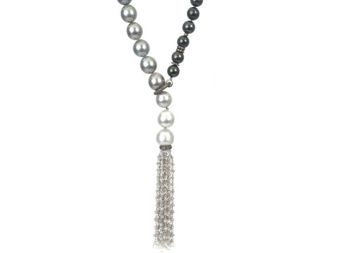 Samira 13 South Sea Pearl Strand Lariat